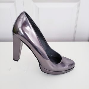 Nine West Gunmetal Patent Shoes